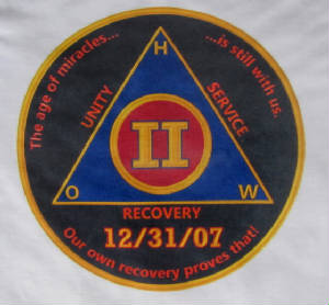 "Alcoholics Anonymous Recovery AA inspired ""Anniversary shirt"